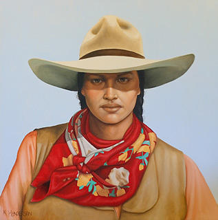 Cowgirl Painting - Diamond Bar by K Henderson