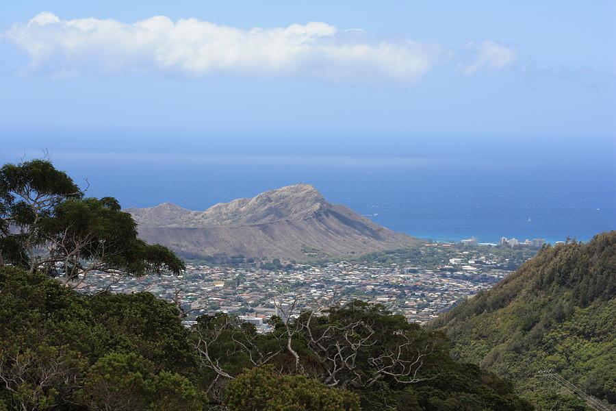 Hawaii Photograph - Diamond Head From Waahila Ridge by Adam Levine