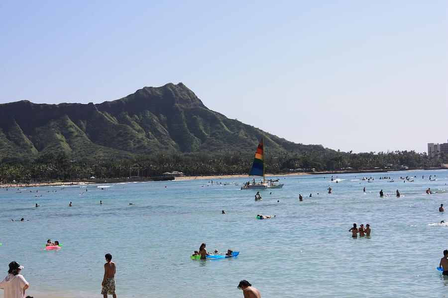 Hawaii Photograph - Diamond Head In The Afternoon by Adam Levine