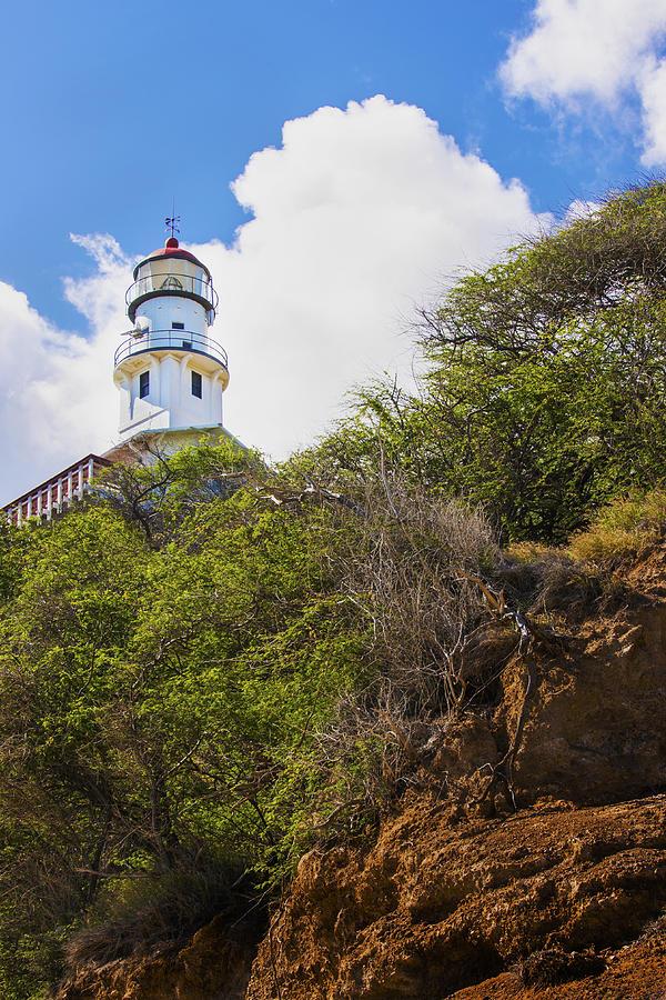 Coastal Photograph - Diamond Head Lighthouse - Oahu Hawaii by Brian Harig