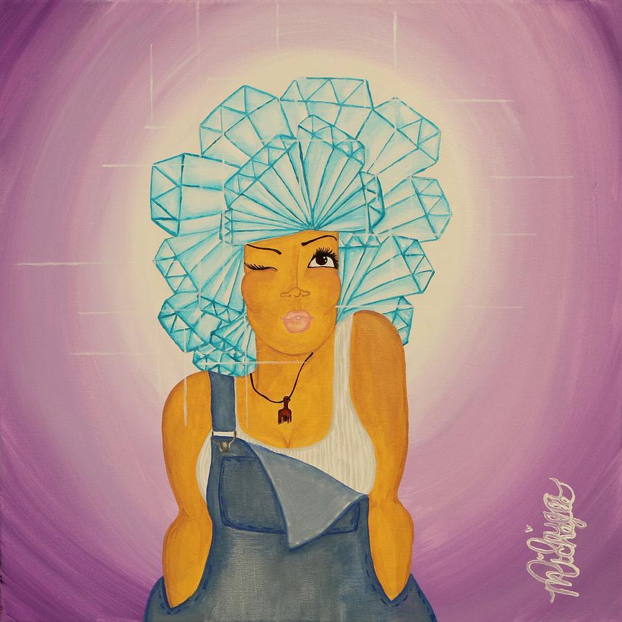 Aliya Painting - Diamond In The Rough by Aliya Michelle