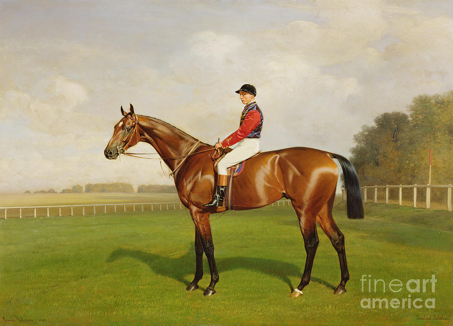 Horse Painting - Diamond Jubilee Winner Of The 1900 Derby by Emil Adam