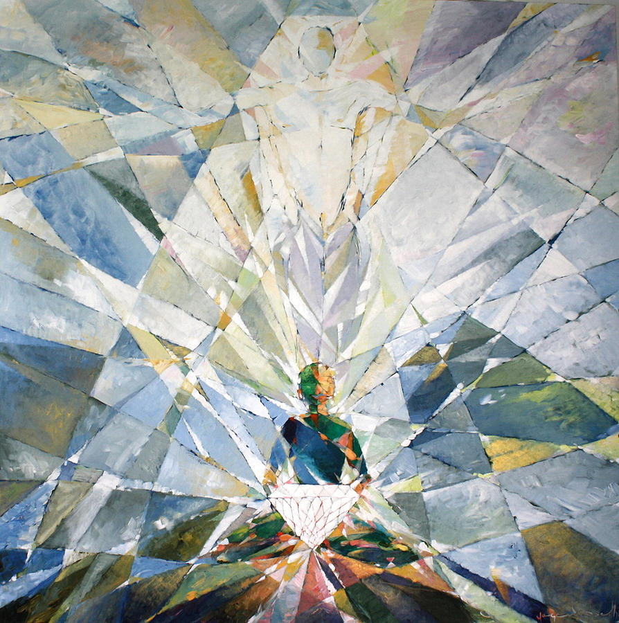 Abstract Painting - Diamond Soul by Yogendra  Sethi