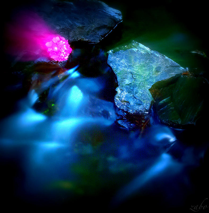 River Photograph - Diamonds On River Abstract by Alex Zabo