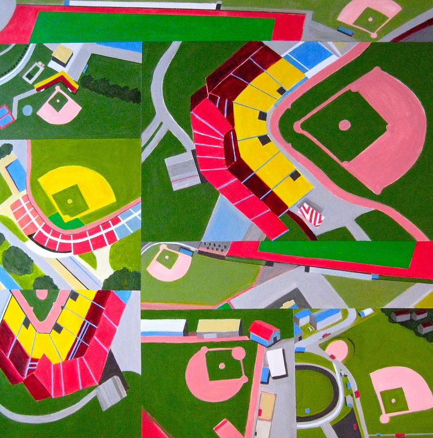 Baseball Diamonds Painting - Diamonds by Toni Silber-Delerive
