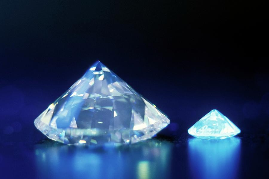 Detail Photograph - Diamonds Under Uv Light by Patrick Landmann