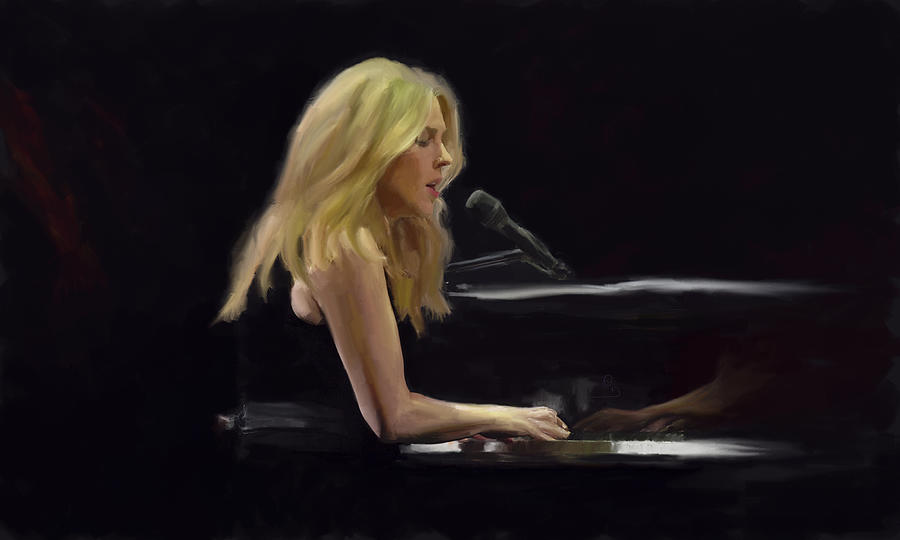 Diana Krall Painting - Diana Krall by GCannon