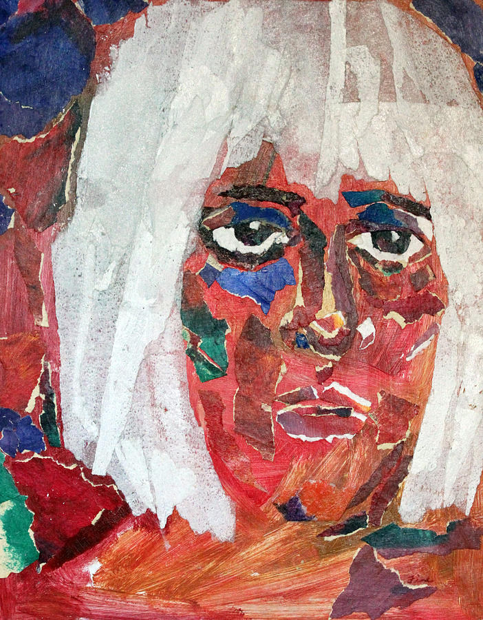 Face Mixed Media - Diane by Diane Fine