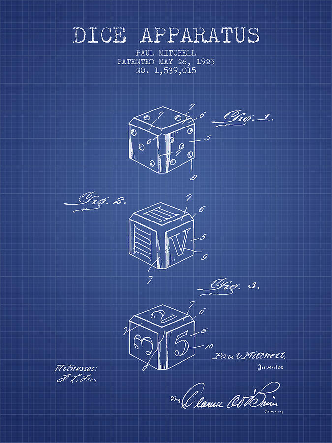 Dice apparatus patent from 1925 blueprint digital art by aged pixel dice digital art dice apparatus patent from 1925 blueprint by aged pixel malvernweather Images