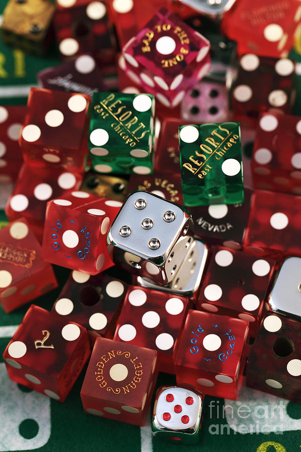 Gambling Photograph - Dice by John Rizzuto
