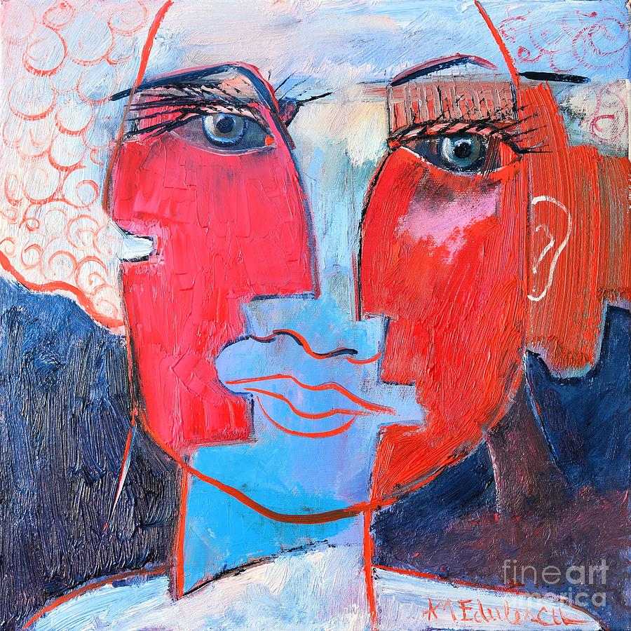 Expressionism Painting - Dichotomous Being  by Ana Maria Edulescu