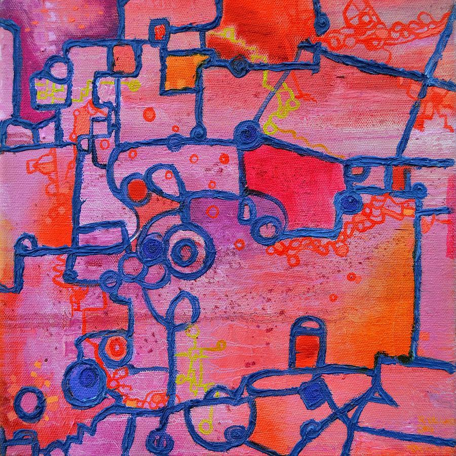 Duality Painting - Dichotomy by Regina Valluzzi