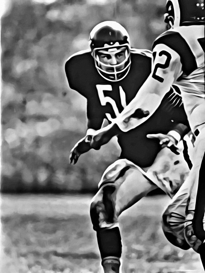 Dick Butkus Painting - Dick Butkus by Florian Rodarte