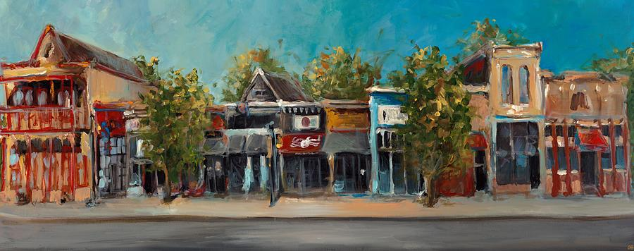 Arkansas Painting - Dickson Street by Cari Humphry
