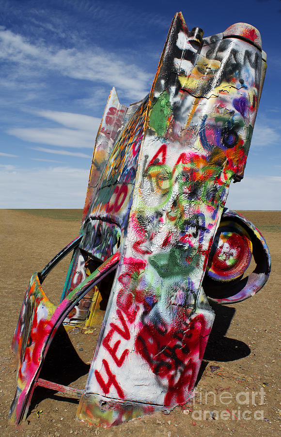 Cadillac Ranch Photograph - Did Not Notice The Stop Sign by Elena Nosyreva