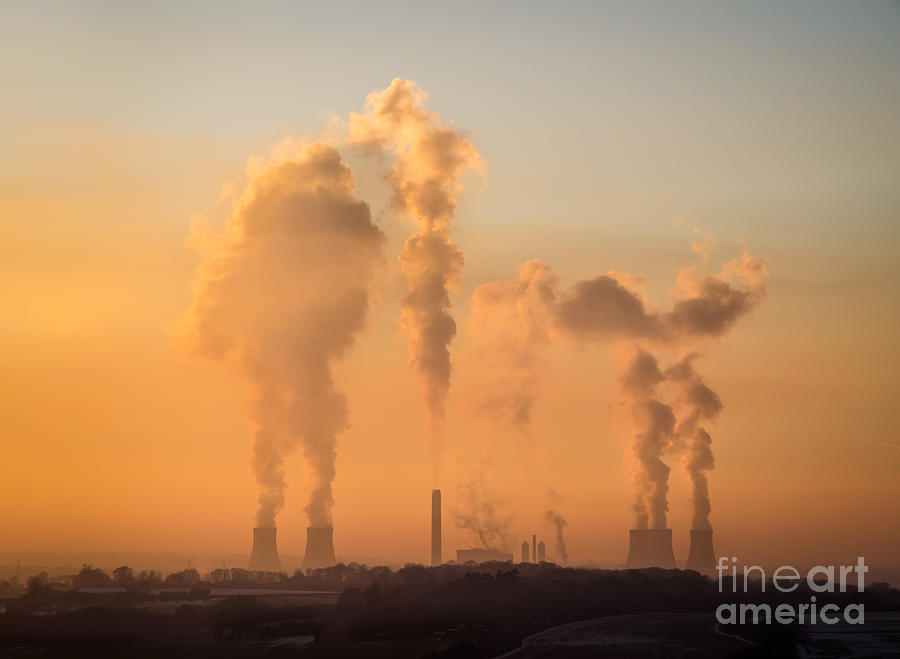 Didcot Photograph - Didcot power station at dusk - Oxfordshire by OUAP Photography