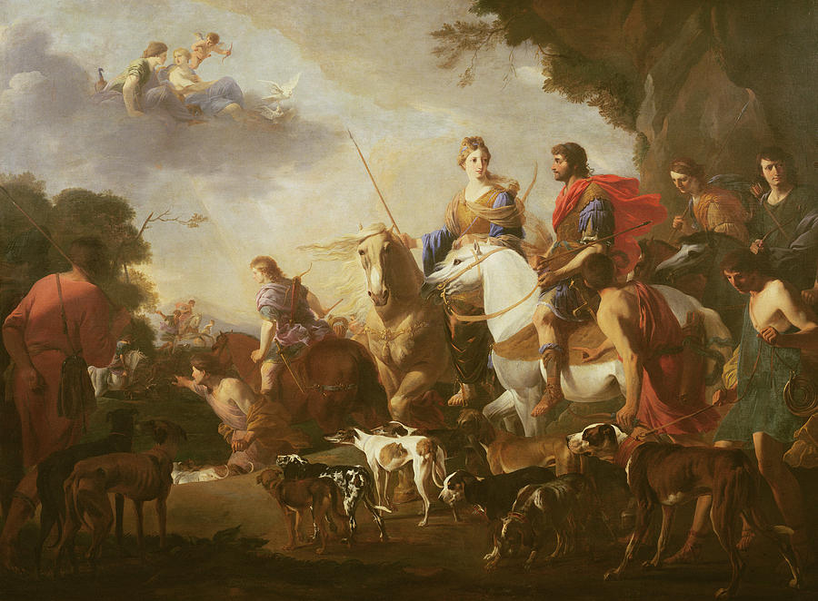 dido and aeneas hunting oil on canvas photograph by jan