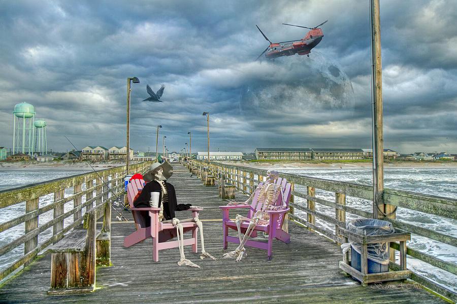 Beach Photograph - Die Hard Fishermen by Betsy Knapp