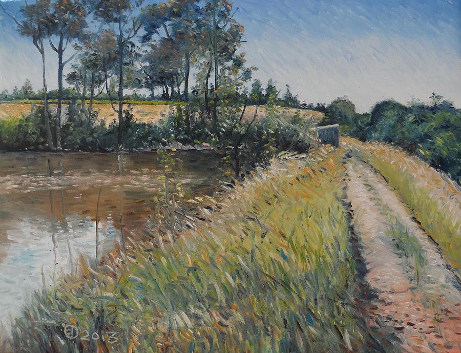 Impressionism Painting - Diemersfontein Dam Western Cape South Africa by Enver Larney