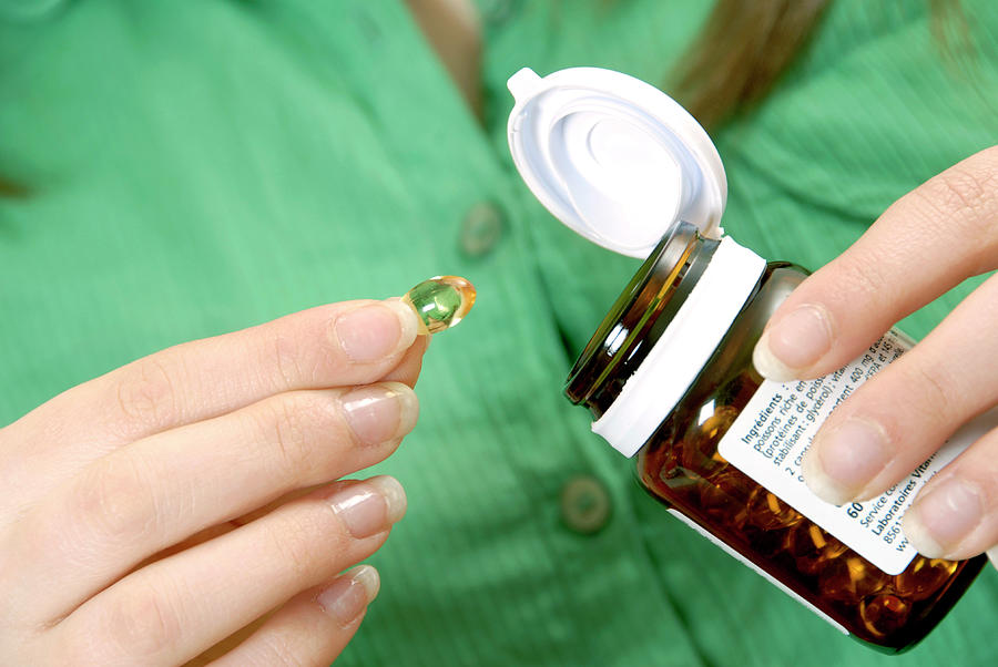 Pot Photograph - Dietary Supplements by Aj Photo/science Photo Library