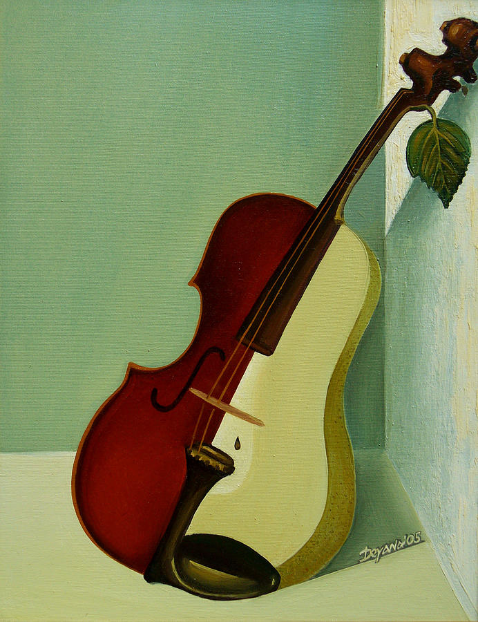 Violin Painting - Differences by Deyana Deco