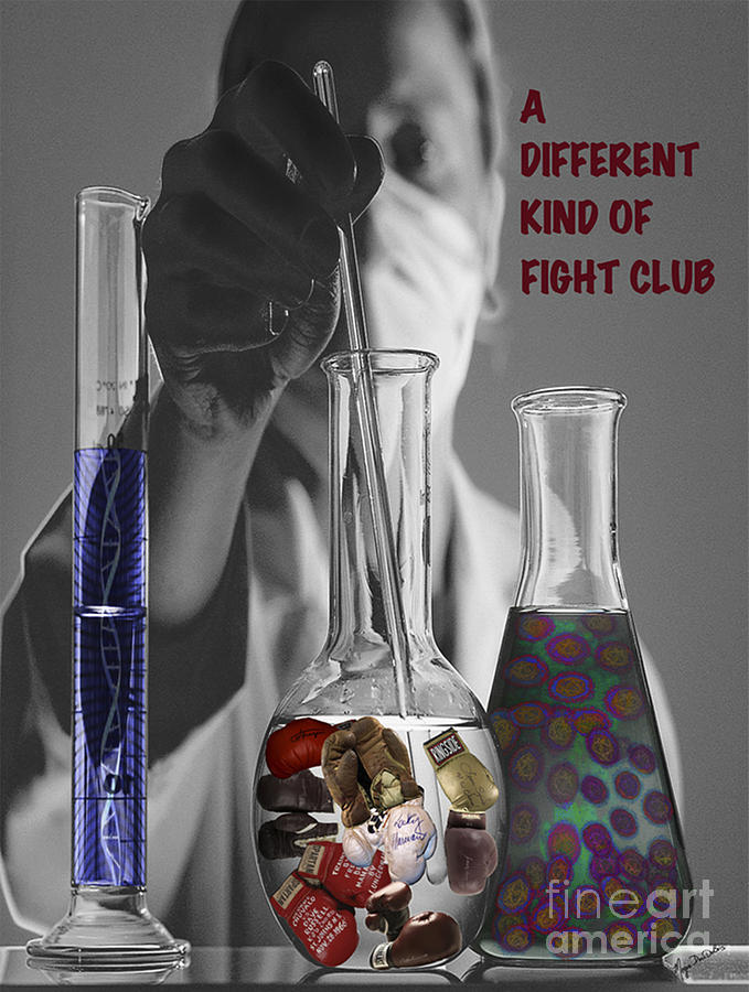 Boxer Gloves Digital Art - Different Kind Of Fight No1 by Megan Dirsa-DuBois