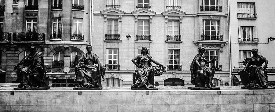 Statues Photograph - Different Poses by Steven  Taylor
