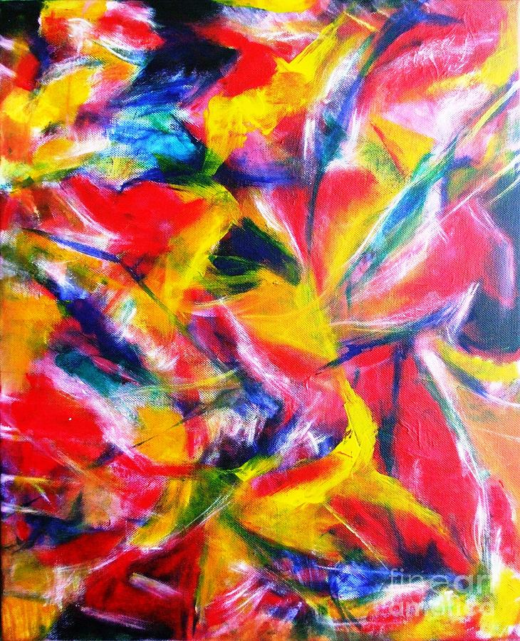 Abstract Painting - Diffused #1 by Jacqueline Howett