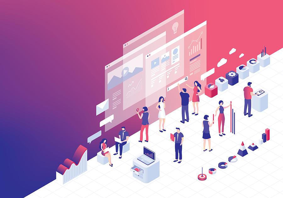 Digital business strategies Drawing by Miakievy