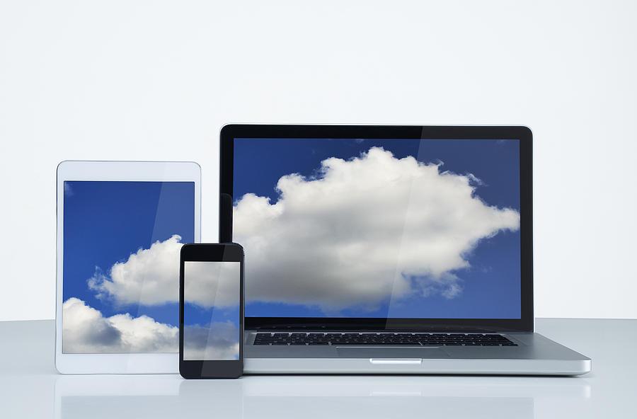 Digital cloud Photograph by John Lamb