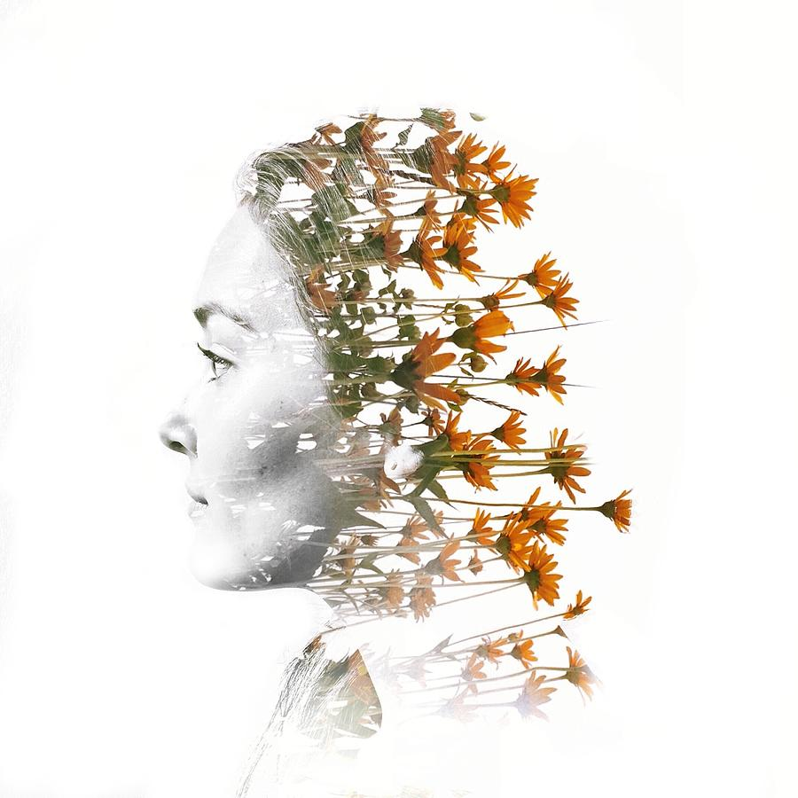 Digital Composite Of Woman Head With Digital Art by Peter Janelle / Eyeem