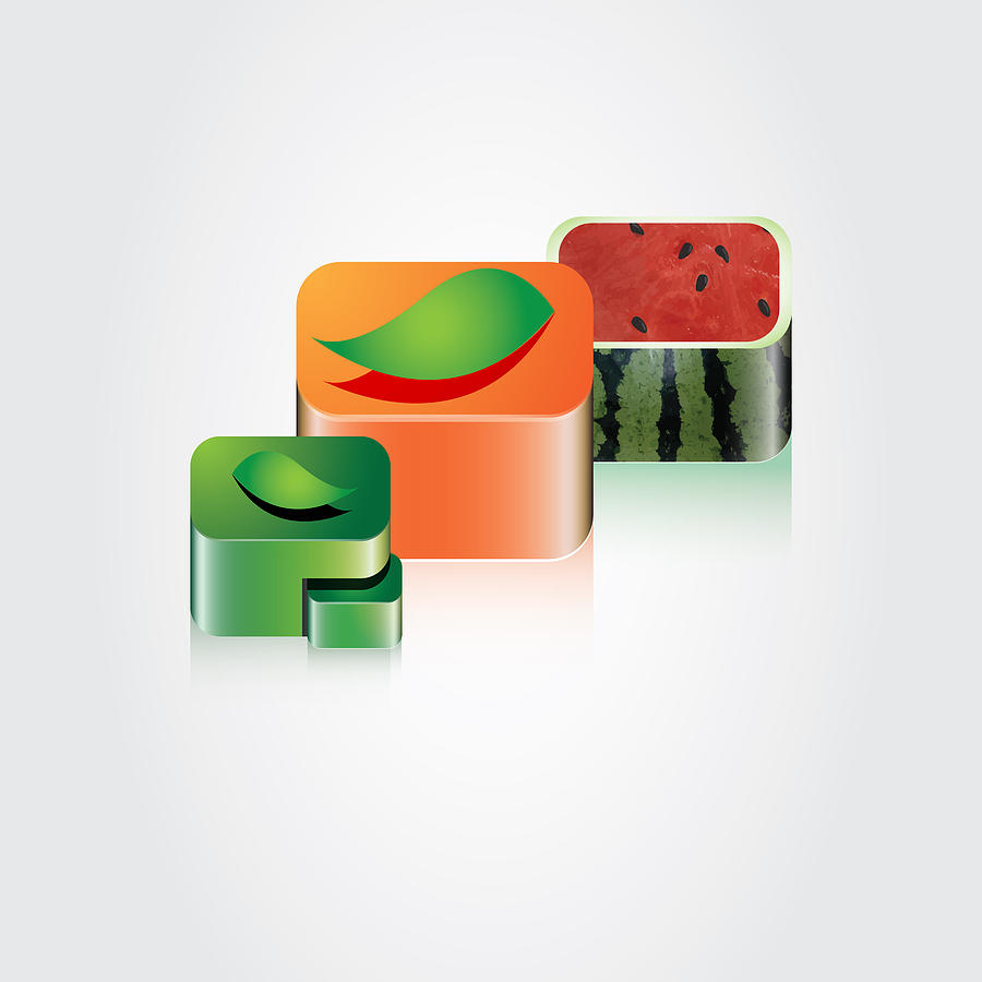 Digital Digital Art - Digital Fruits by Ali ArtDesign