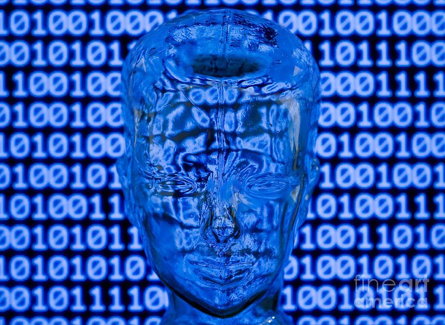 Head Mixed Media - Digital Head by Shawn Hempel