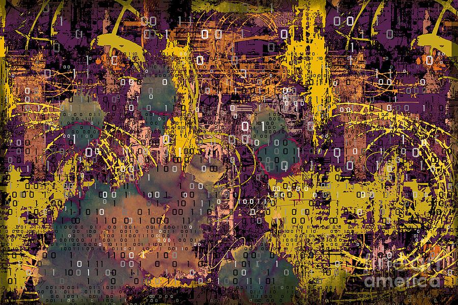 Digital Digital Art - Digital Hell by Peter Awax