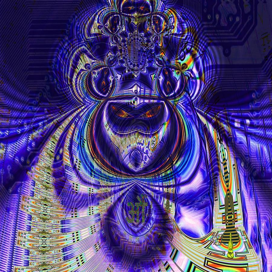 Allegory Digital Art - Digital Loop Entity by Jason Saunders