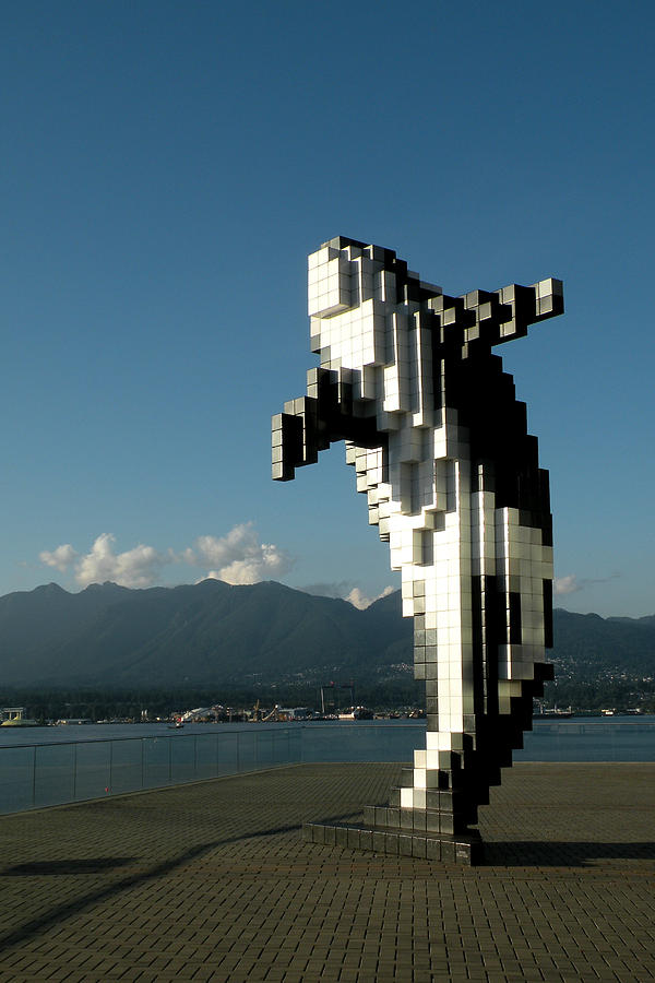 Digital Photograph - Digital Orca By Douglas Coupland by Brian Chase