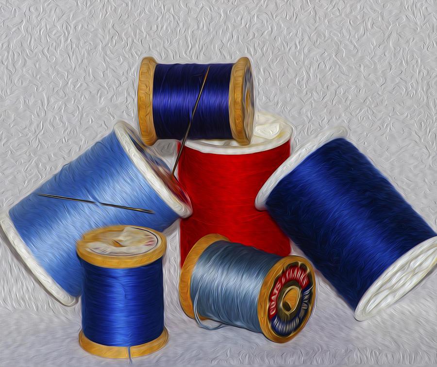 Thread Photograph - Digital Paint Thread by Camille Lopez