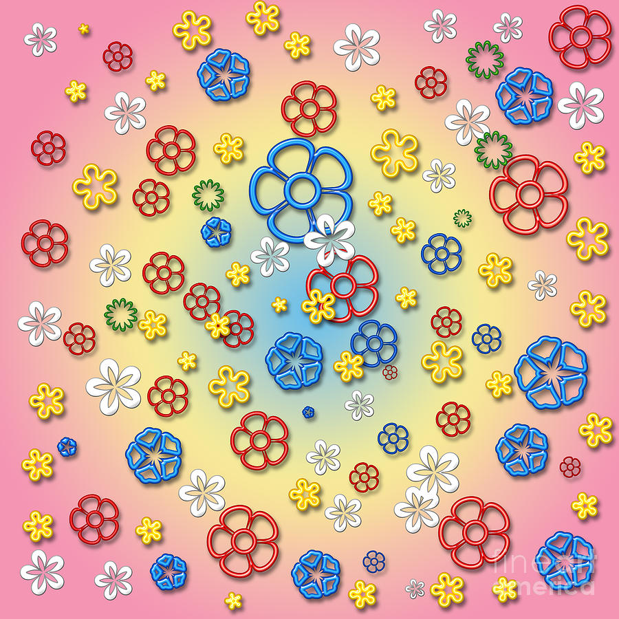 Flowers Digital Art - Digital Springtime by Gaspar Avila