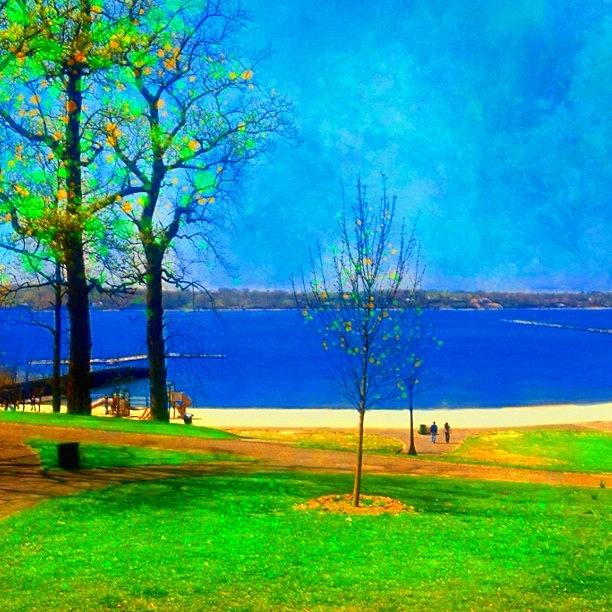 Seascape Photograph - #digitalart #landscape #beach #park by Robin Mead