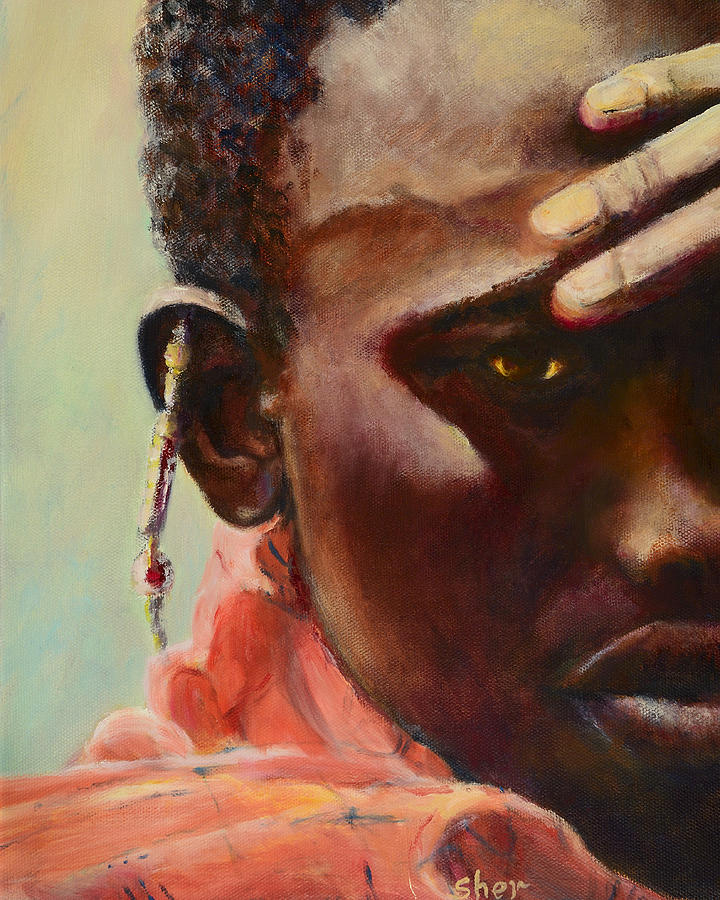 Portrait Painting - Dignity by Sher Nasser