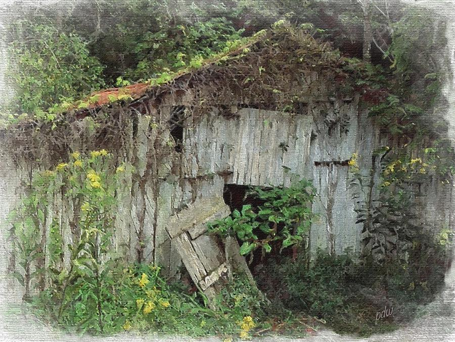 Smoky Mountains Painting - Dilapidated And Barely Standing 11 by Philip White