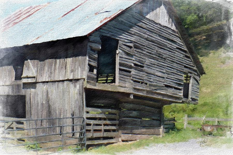 smoky Mountains Painting - Dilapidated And Barely Standing 13 by Philip White