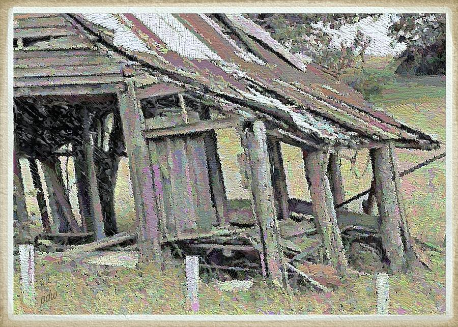 Chimney Painting - Dilapidated And Barely Standing by Philip White