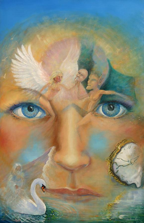 Angels Painting - Dimensions Of The Mind by Peter Jean Caley