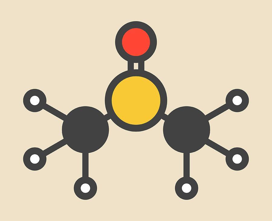 Solvent Photograph - Dimethyl Sulfoxide Molecule by Molekuul