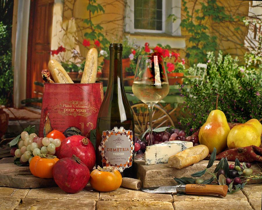 Wine Photograph - Dimetria Viognier by Mel Felix