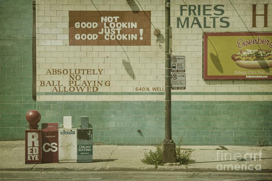 Chicago Photograph - Diner Rules by Andrew Paranavitana