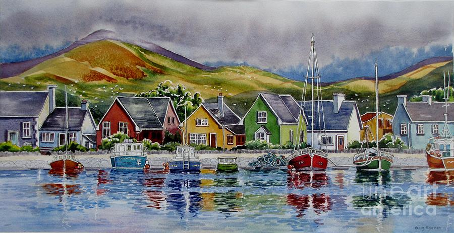 Harbor Painting - Dingle-harbour-1 by Nancy Newman