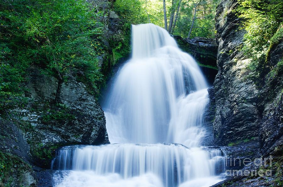 Waterfall Photograph - Dingmans Ferry Falls by Lucy Raos