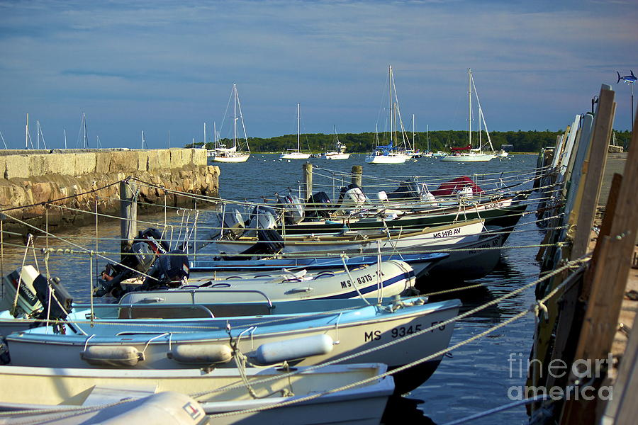 Boats Photograph - Dingys Of Mattapoisett  by Amazing Jules